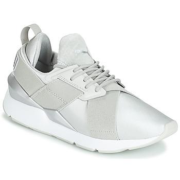 鞋子 女士 球鞋基本款 Puma 彪馬 WN MUSE SATIN II.GRAY 灰色