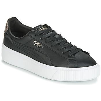 鞋子 女士 球鞋基本款 Puma 彪马 WN SUEDE PLATFM OPULENT.BL 黑色