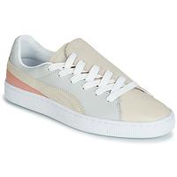 鞋子 女士 球鞋基本款 Puma 彪马 WN BASKET CRUSH PARIS.GRAY 米色