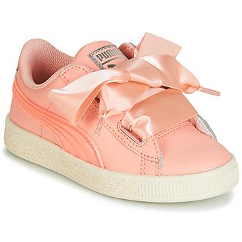 鞋子 女孩 球鞋基本款 Puma 彪马 PS BASKET HEART JELLY.PEAC 玫瑰色