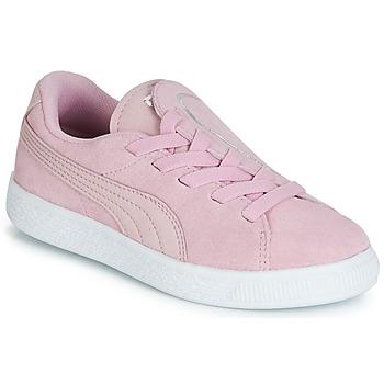 鞋子 女孩 球鞋基本款 Puma 彪马 PS SUEDE CRUSH AC.LILAC Lila