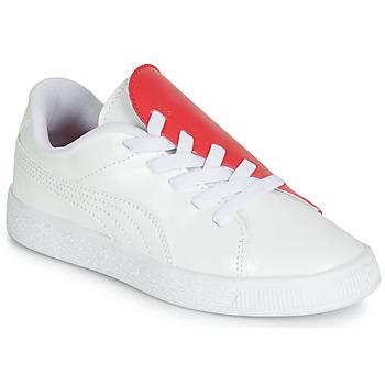 鞋子 女孩 球鞋基本款 Puma 彪马 PS BKT CRUSH PATENT AC.W-H 白色