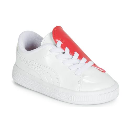 鞋子 女孩 球鞋基本款 Puma 彪马 INF B CRUSH PATENT AC.W-H 白色