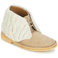 鞋子 女士 短筒靴 Clarks 其乐 DESERT BOOT Sand / Combi