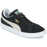 鞋子 球鞋基本款 Puma 彪马 SUEDE CLASSIC 黑色 / 白色