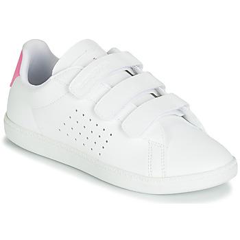 鞋子 女孩 球鞋基本款 Le Coq Sportif 樂卡克 COURTSET PS 白色 / 玫瑰色