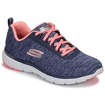 鞋子 女士 训练鞋 Skechers 斯凯奇 FLEX APPEAL 3.0 海蓝色 / 玫瑰色