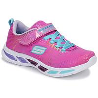 鞋子 女孩 球鞋基本款 Skechers 斯凯奇 LITEBEAMS 玫瑰色