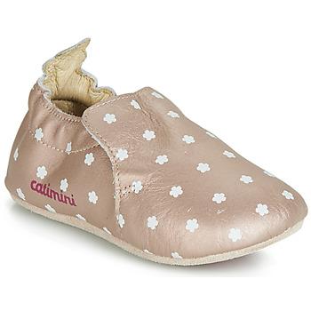 鞋子 女孩 拖鞋 Catimini CARA 玫瑰色 / 金色