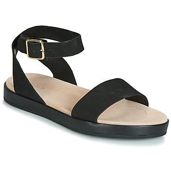 鞋子 女士 凉鞋 Clarks 其乐 BOTANIC IVY 黑色