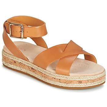鞋子 女士 凉鞋 Clarks 其乐 BOTANIC POPPY 棕色