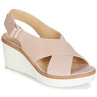 鞋子 女士 凉鞋 Clarks 其乐 PALM CANDID 裸色