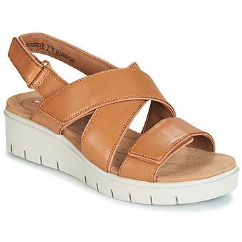鞋子 女士 凉鞋 Clarks 其乐 UN KARELY DEW 棕色