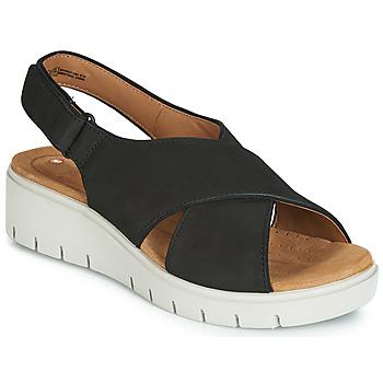鞋子 女士 凉鞋 Clarks 其乐 UN KARELY SUN 黑色