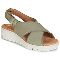 鞋子 女士 凉鞋 Clarks 其乐 UN KARELY SUN 绿色