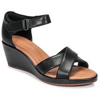 鞋子 女士 凉鞋 Clarks 其乐 UN PLAZA CROSS 黑色