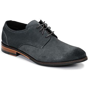 鞋子 男士 德比 Clarks 其乐 FLOW PLAIN 灰色