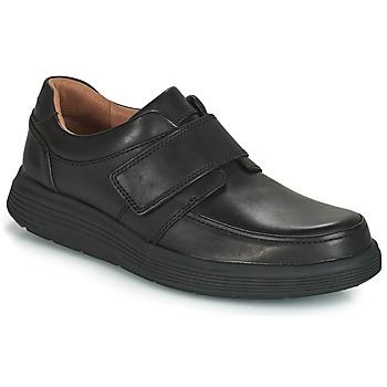 鞋子 男士 德比 Clarks 其乐 UN ABODE STRAP 黑色