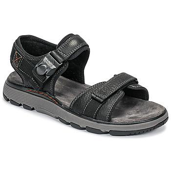 鞋子 男士 涼鞋 Clarks 其樂 UN TREK PART 黑色