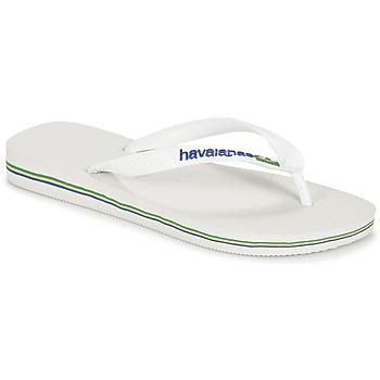 鞋子 人字拖 Havaianas 哈瓦那 BRASIL LOGO 白色