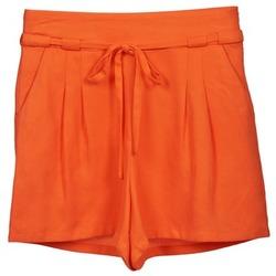 衣服 女士 短裤&百慕大短裤 Naf Naf 娜芙娜芙 KUIPI 橙色
