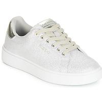 鞋子 女孩 球鞋基本款 Kappa 卡帕 SAN REMO KID 白色 / 銀灰色