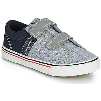 鞋子 男孩 球鞋基本款 Kappa 卡帕 CALEXI V 灰色 / 海藍色