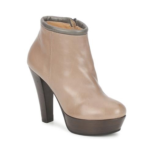鞋子 女士 短靴 Keyté POULOI 灰褐色