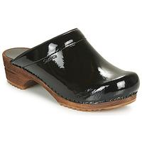 鞋子 女士 洞洞鞋/圆头拖鞋 Sanita CLASSIC PATENT 黑色