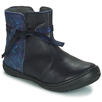 鞋子 女孩 短筒靴 André FLOTTE 海蓝色