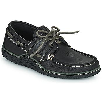鞋子 男士 船鞋 TBS GLOBEK 黑色