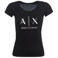 衣服 女士 短袖体恤 Armani Exchange HELBATANTE 黑色