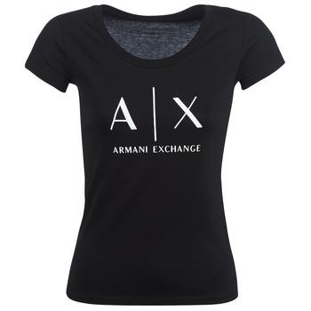 衣服 女士 短袖体恤 EMPORIO ARMANI EAX HELBATANTE 黑色
