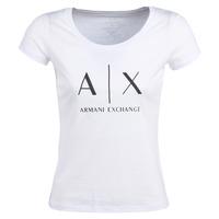 衣服 女士 短袖体恤 EMPORIO ARMANI EAX HELIAK 白色