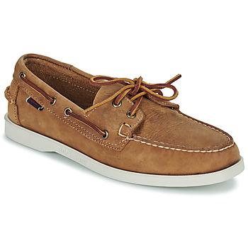 鞋子 男士 船鞋 Sebago 仕品高 DOCKSIDES PORTLAND CRAZY H 棕色
