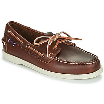 鞋子 男士 船鞋 Sebago 仕品高 DOCKSIDES PORTLAND WAXED 棕色