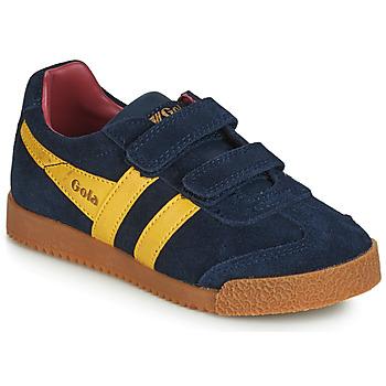 鞋子 儿童 球鞋基本款 Gola HARRIER VELCRO 蓝色