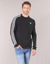 衣服 男士 衛衣 Adidas Originals 阿迪達斯三葉草 3 STRIPES CREW 黑色