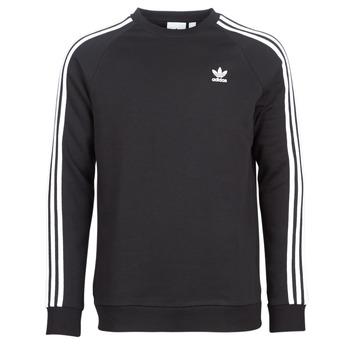 衣服 男士 卫衣 Adidas Originals 阿迪达斯三叶草 3 STRIPES CREW 黑色