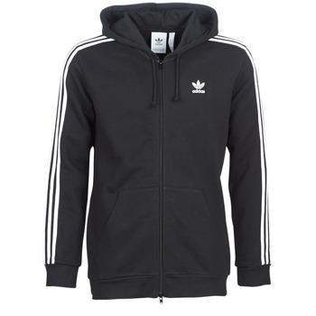 衣服 男士 卫衣 Adidas Originals 阿迪达斯三叶草 3 STRIPES FZ 黑色