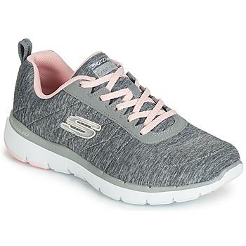 鞋子 女士 球鞋基本款 Skechers 斯凯奇 FLEX APPEAL 3.0 INSIDERS 灰色