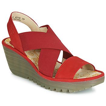 鞋子 女士 高跟鞋 Fly London YAJI 红色