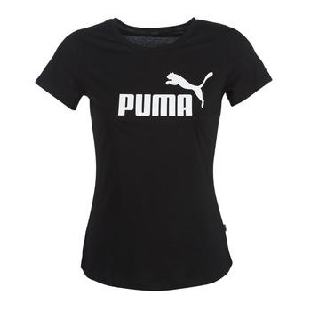 衣服 女士 短袖体恤 Puma 彪马 PERMA ESS TEE 黑色