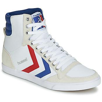 鞋子 高帮鞋 Hummel TEN STAR HIGH CANVAS 白色 / 蓝色 / 红色