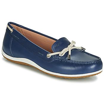 鞋子 女士 皮便鞋 Geox 健乐士 D VEGA MOC 蓝色 / 裸色