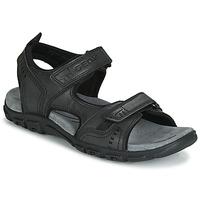 鞋子 男士 运动凉鞋 Geox 健乐士 UOMO SANDAL STRADA 黑色
