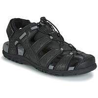 鞋子 男士 凉鞋 Geox 健乐士 UOMO SANDAL STRADA 黑色