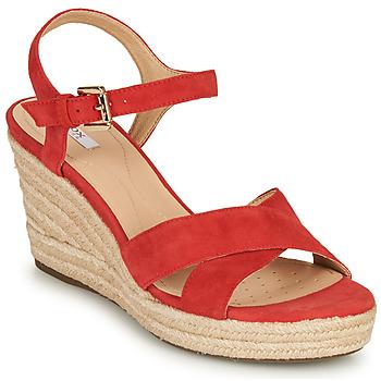 鞋子 女士 凉鞋 Geox 健乐士 D SOLEIL 红色 / 珊瑚色