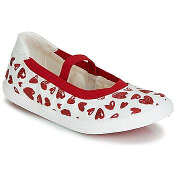 鞋子 女孩 平底鞋 Geox 健樂士 J KILWI GIRL 白色 / 紅色
