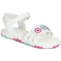 鞋子 女孩 凉鞋 Geox 健乐士 J SANDAL HAITI GIRL 白色